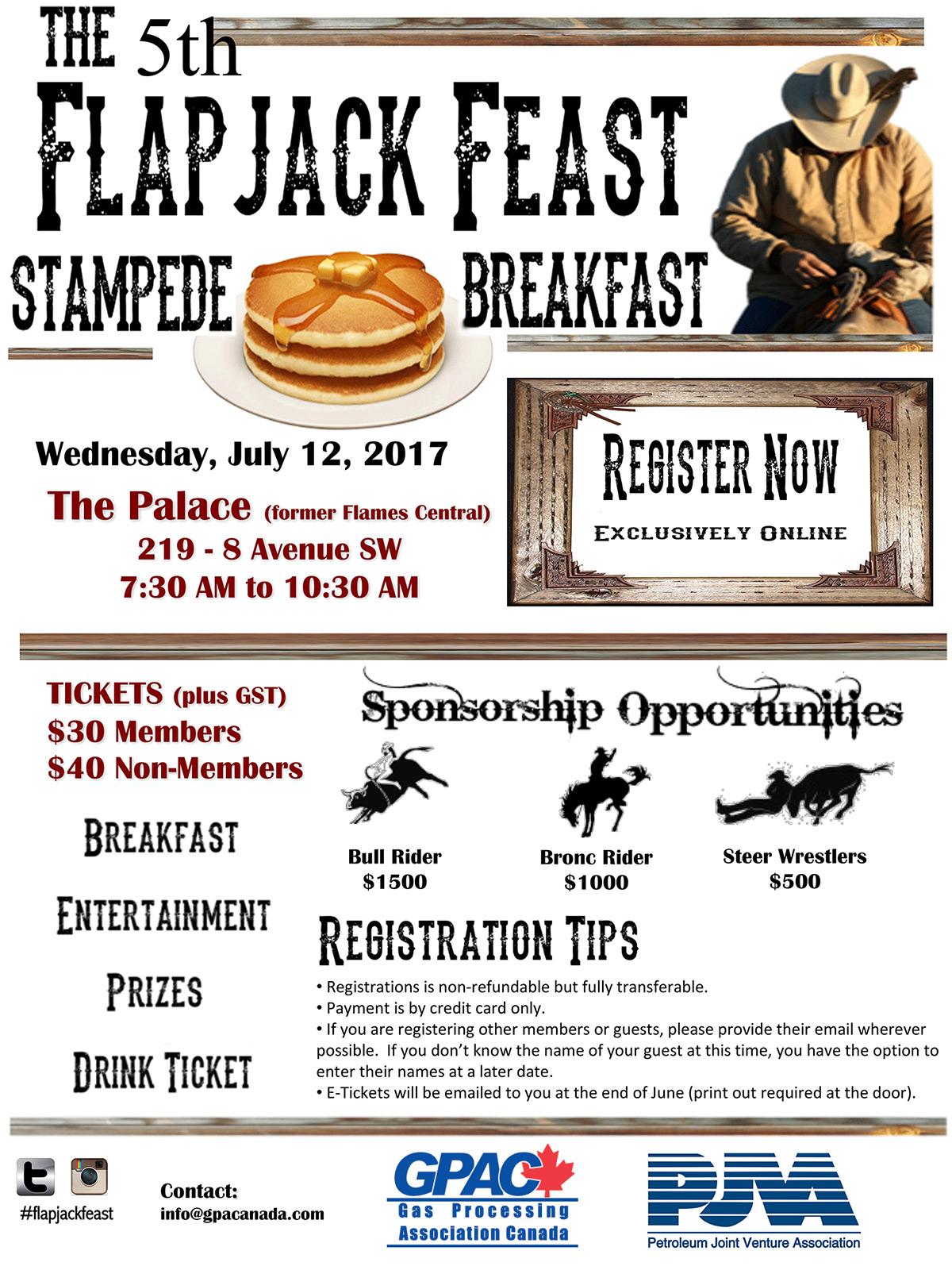 5th Flapjack Feast — Stampede Breakfast